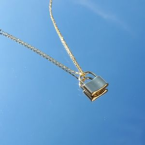 Jewelry - Gold filled lock necklace